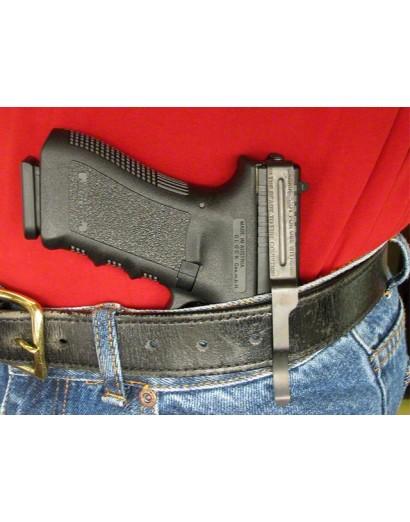 Clip ceinture Glock en acier pour port inside