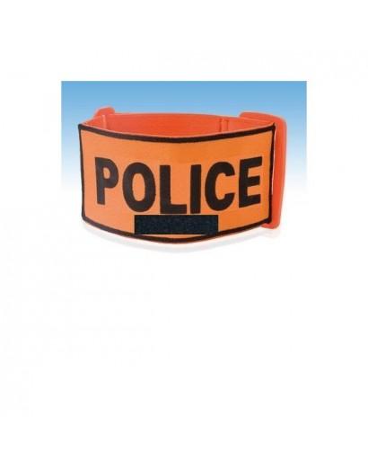 BRASSARD ORANGE POLICE BRODEE