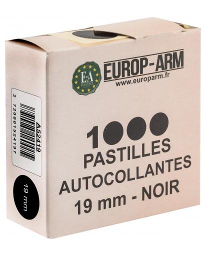 PASTILLES AUTOCOLLANTES NOIRE 19 MM