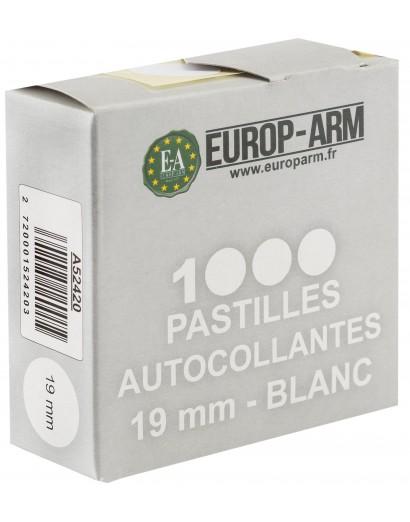 PASTILLES AUTOCOLLANTES BLANCHE 19 MM